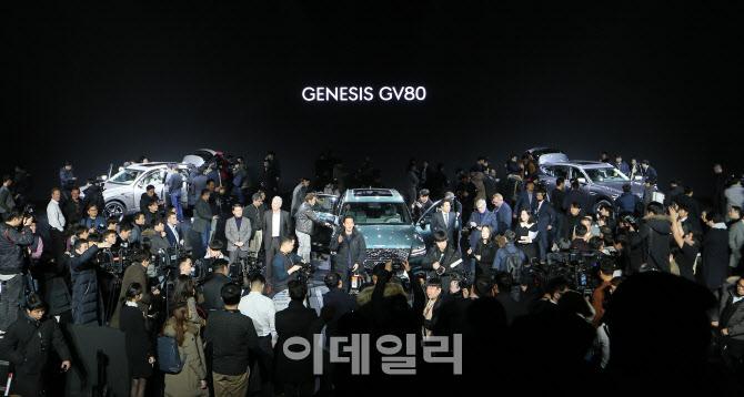 제네시스 SUV 'GV80'에 쏠린 뜨거운 관심