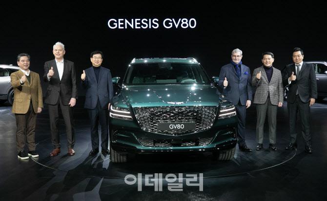 베일 벗은 국내 최고급 SUV 'GV80'