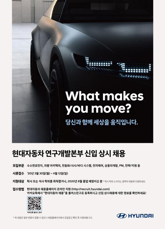현대차, 미래차 연구개발 박차…신입·경력사원 상시모집