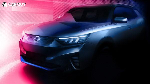 쌍용차 첫 전기차 E100 티저 공개..사실상 코란도 전기차?