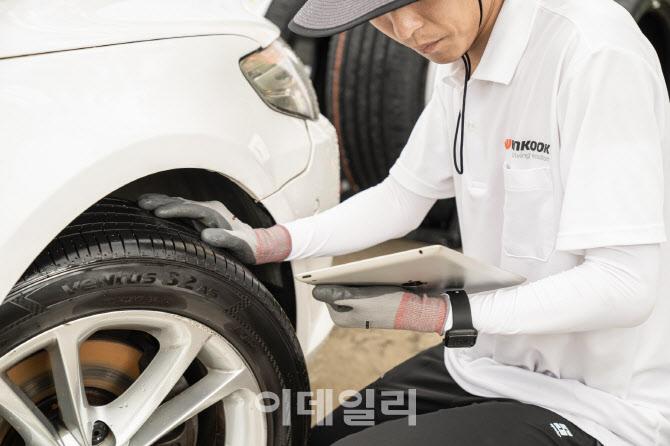 한국타이어, 고속도로 휴게소서 차량 무상점검 실시