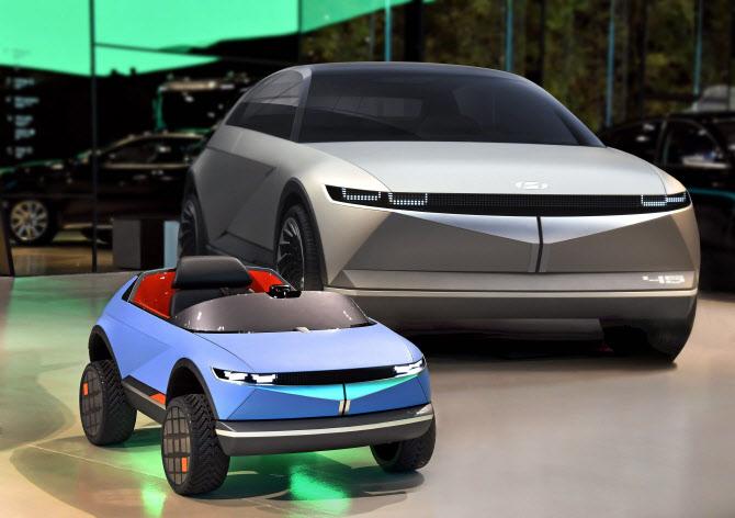 EV 콘셉트카 '45' 디자인 활용 어린이 전동차 공개