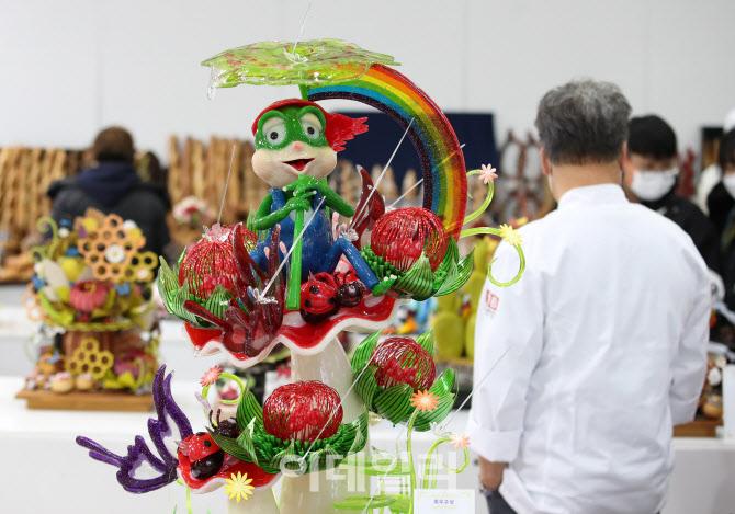 [포토]'먹기보단 보는 즐거움'
