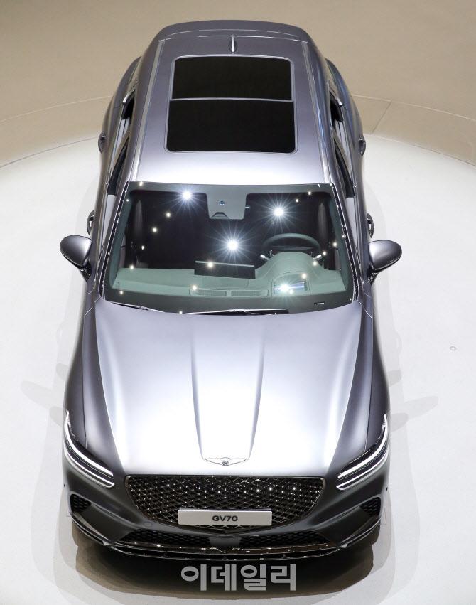 현대차, 도심형 럭셔리 SUV '제네시스 GV70' 선보여