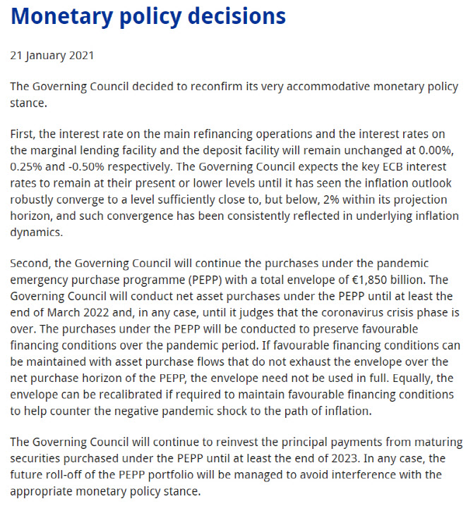 "ECB, 제로금리·양적완화 유지…""경제 하방위험 크다"""