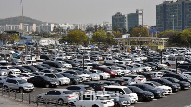 [포토]나들이객들로 김포공항 국내선 주차장은 만차