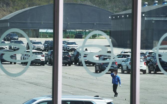 車업계의 `우울한 4월`..제대로 공장 돌아가는 곳이 없다