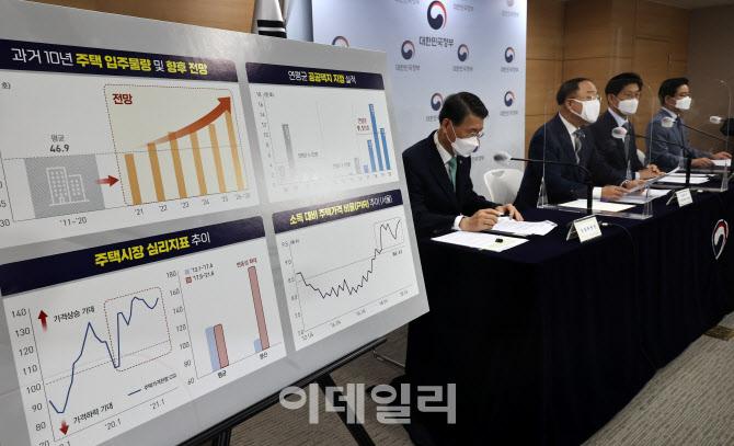 """[포토]홍남기 부총리, """"부동산 교란행위 엄단"""""""