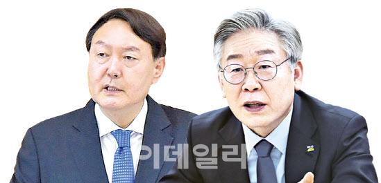 '대선주자 선호도' 이재명 27% 윤석열 24.2%…양강구도 지속[리얼미터]