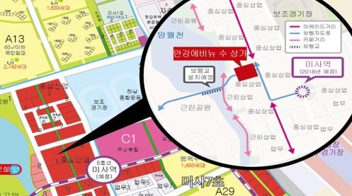 투자자 주목! 강남생활권 미사강변도시 초역세권 상가 '안강에비뉴수' 인기