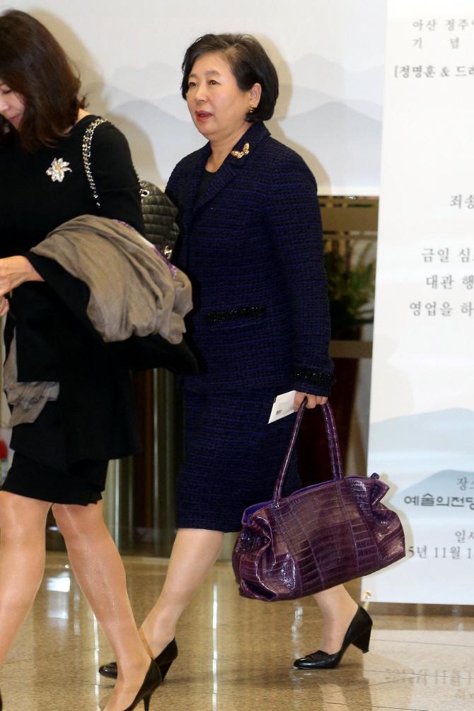 故정주영 탄생 100주년 기념음악회 참석한 현정은 회장