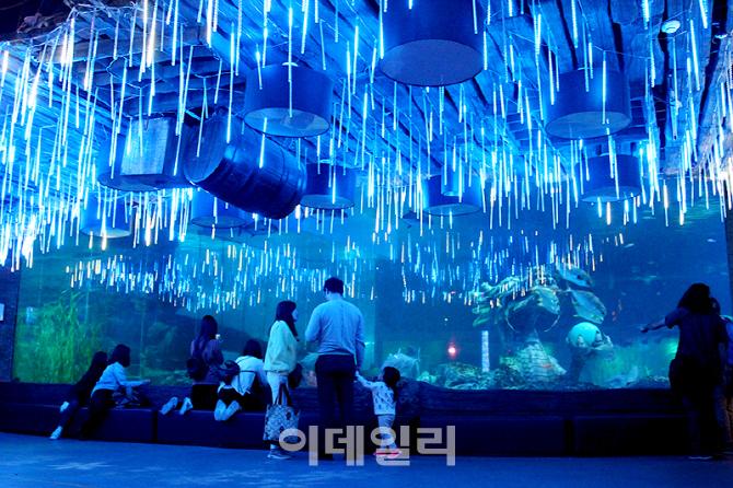 부산아쿠아리움, '바다속 판타지' 빛축제 개최