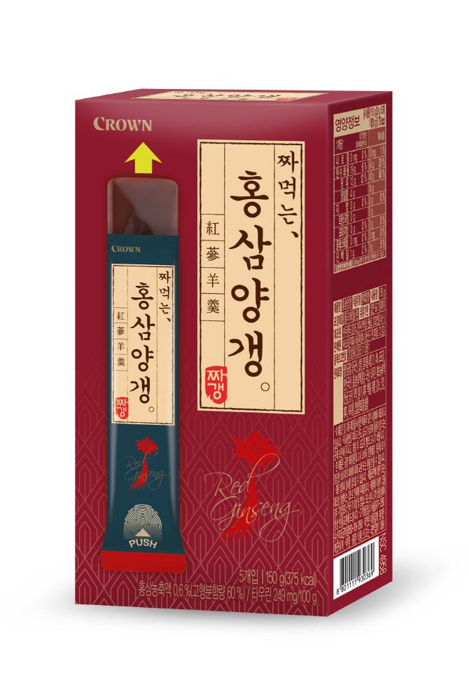 크라운제과 '홍삼양갱' 출시…'맛과 건강을 동시에'