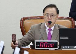 """이명수 한국당 인재영입위원장 """"공천 보장해달란 사람은 못 받아"""""""