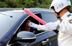 출근길 음주 단속하는 경찰