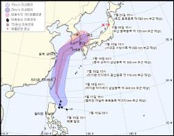 진로 바꾼 5호 태풍 `다나스`…19일 제주·20일 부산 영향권