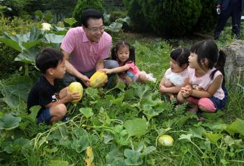 꼬마농부와 함께하는 용산마을농원 향토작물 수확행사