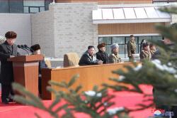 북한 양덕온천 준공