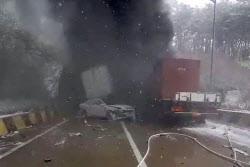 [포토] 사매2터널 차량 추돌 사고 발생