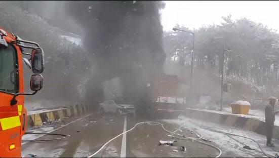"""고속도로 터널사고 38명 사상 """"구조자 파악 어려워"""""""
