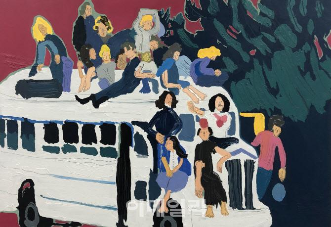 [e갤러리] 왼손의 히피, 도발 혹은 혁명…윤상윤 '새 세상이 온다'