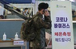 [포토] 코로나19 확산 방지 휴가·외박 통제, 부대 복귀하는 장병
