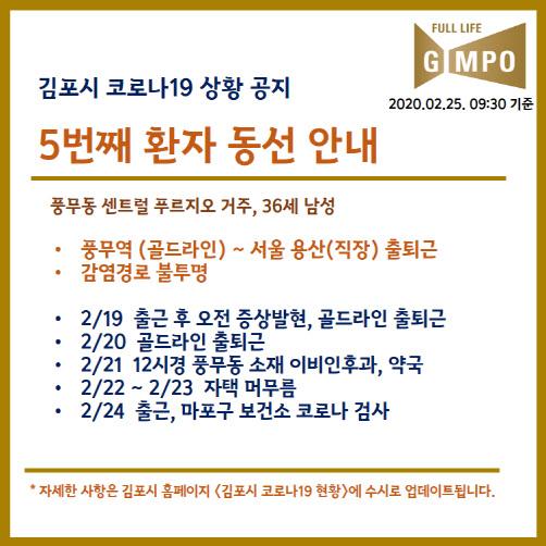 김포시, 코로나19 확진자 동선 공개...LS용산타워 출퇴근