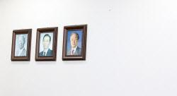 [포토]이명박-박근혜 전 대통령 사진 없는 미래통합당 회의실