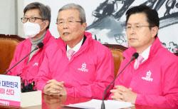 [포토]미래통합당 중앙선대위, '모두발언하는 김종인'
