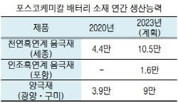 포스코케미칼, 車배터리 인조흑연계 음극재 국산화…2023년 완공 목표