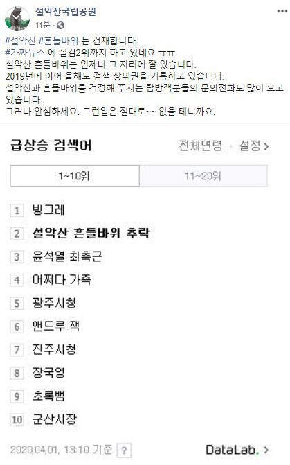 """""""설악산 흔들바위 추락, 문의전화 많아...올해도 실검 1위"""""""