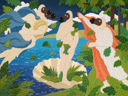 비너스로 부활한 도도새, 이것이 '자유'…김선우 '도너스의 탄생'