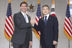 한·미 국방장관 전화 통화…방위비 협정 관련 협의