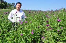 가시엉겅퀴 제품 만드는 심재석 대표, 이달의 농촌융복합인