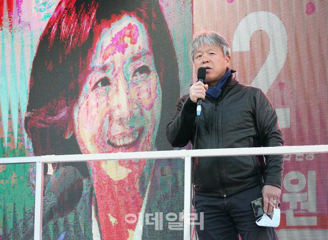 산악인 엄홍길 대장, '나경원 지원유세'