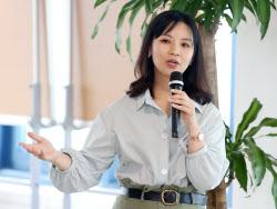 [포토]유진희 필콘미디어 부장, '투자자 사로잡는 유튜브 콘텐츠 만들기'란