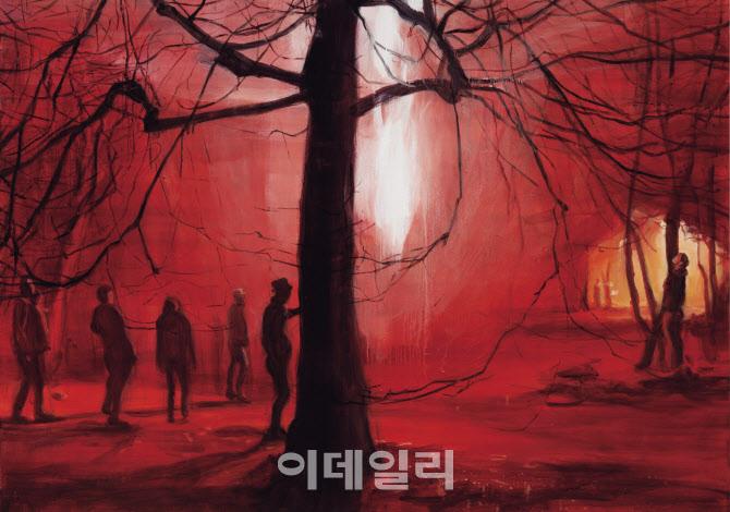 [e갤러리] 한밤중 공원서 불꽃 일던 날…박진아 '공원의 새밤'