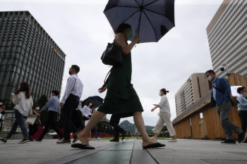 장마철 출근길 우산은 필수