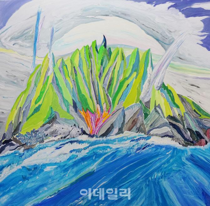 [e갤러리] '가짜 기분' 씌운 성난 붓질…최수인 '화난 산'