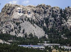 [포토] 트럼프 방문 예정인 미국 '큰 바위 얼굴'