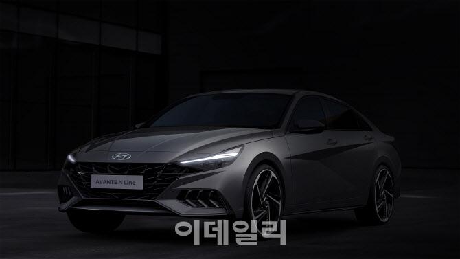 올 뉴 아반떼 'N라인' 렌더링 공개…이달 출시