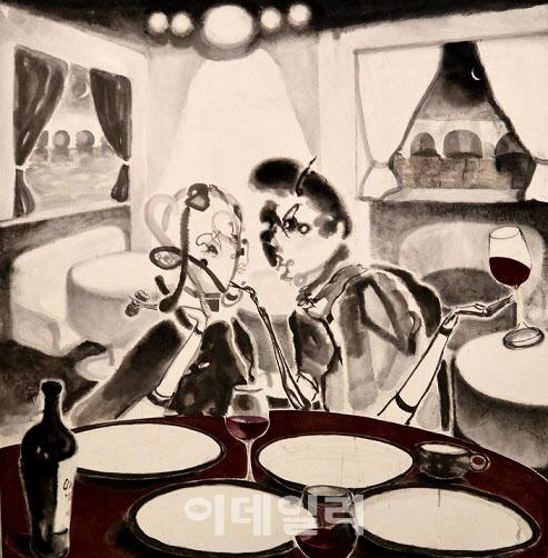 [e갤러리] 공허한 남자 허무한 여자…윤지하 '두 개의 밤'