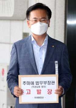 [포토]미래통합당, 추미애 장관 직권남용 혐의로 검찰 고발