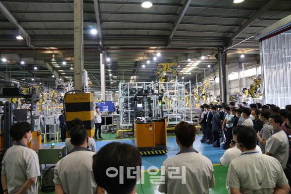 세종공업 자회사, 자율주행 이송 로봇 시연회 진행