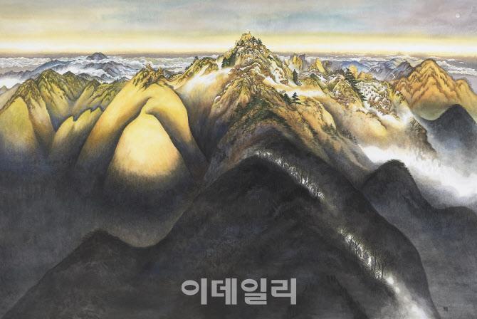 [e갤러리] 드론은 못 보는 지리산 이야기…진희란 '개천천왕봉'