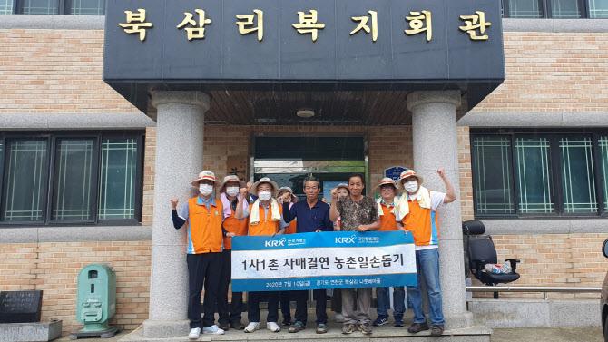 한국거래소, 경기 연천 나룻배마을서 '농촌일손돕기' 봉사활동