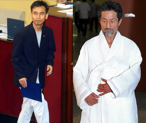 국회 복장 논란, 백바지·한복..원피스