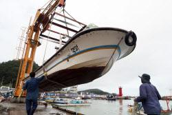 [포토] 태풍 장미 북상 어선 피항