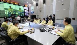 [포토]중앙재난안전상황실에서 열린 대처상황 점검회의