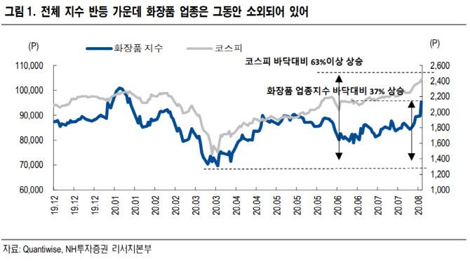 """""""화장품株, 2분기 저점으로 점진적 회복세 전망"""""""